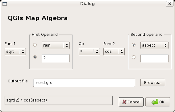 Map Algebra in QGis